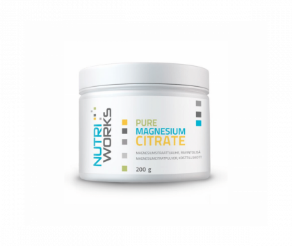 Nutri Works Pure Magnesium Citrate, 200g