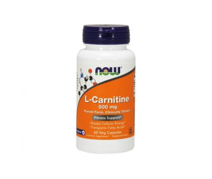 NOW Foods L-Carnitine 500 mg, 60 kaps.