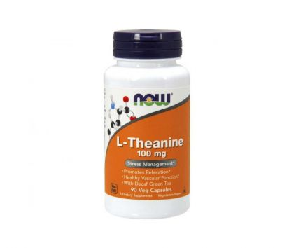 NOW Foods L-Theanine 100 mg, 90 kaps.
