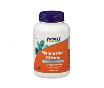 NOW Foods Magnesium Citrate, 120 kaps.