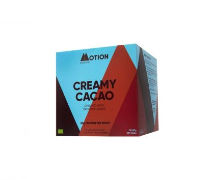 Motion Nutrition Creamy Cacao Protein, 12 x 30g