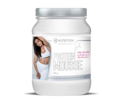 M-NUTRITION x Fit By Sofia Protein Mousse, White Chocolate-Raspberry, 500g