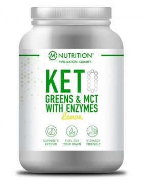 M-NUTRITION KETO Greens & MCT with Enzymes, Lemon, 600g
