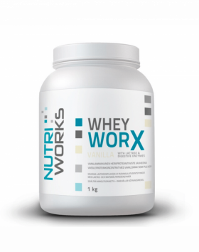 Nutri Works Whey WorX With Lactase & Digestive Enzymes, 1kg