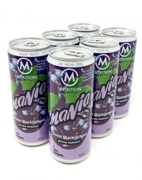 M-NUTRITION Mania Before Workout, Sweet Blackcurrant 6-Pack
