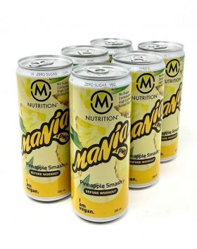 M-NUTRITION Mania Before Workout, Pineapple Smash 6-Pack